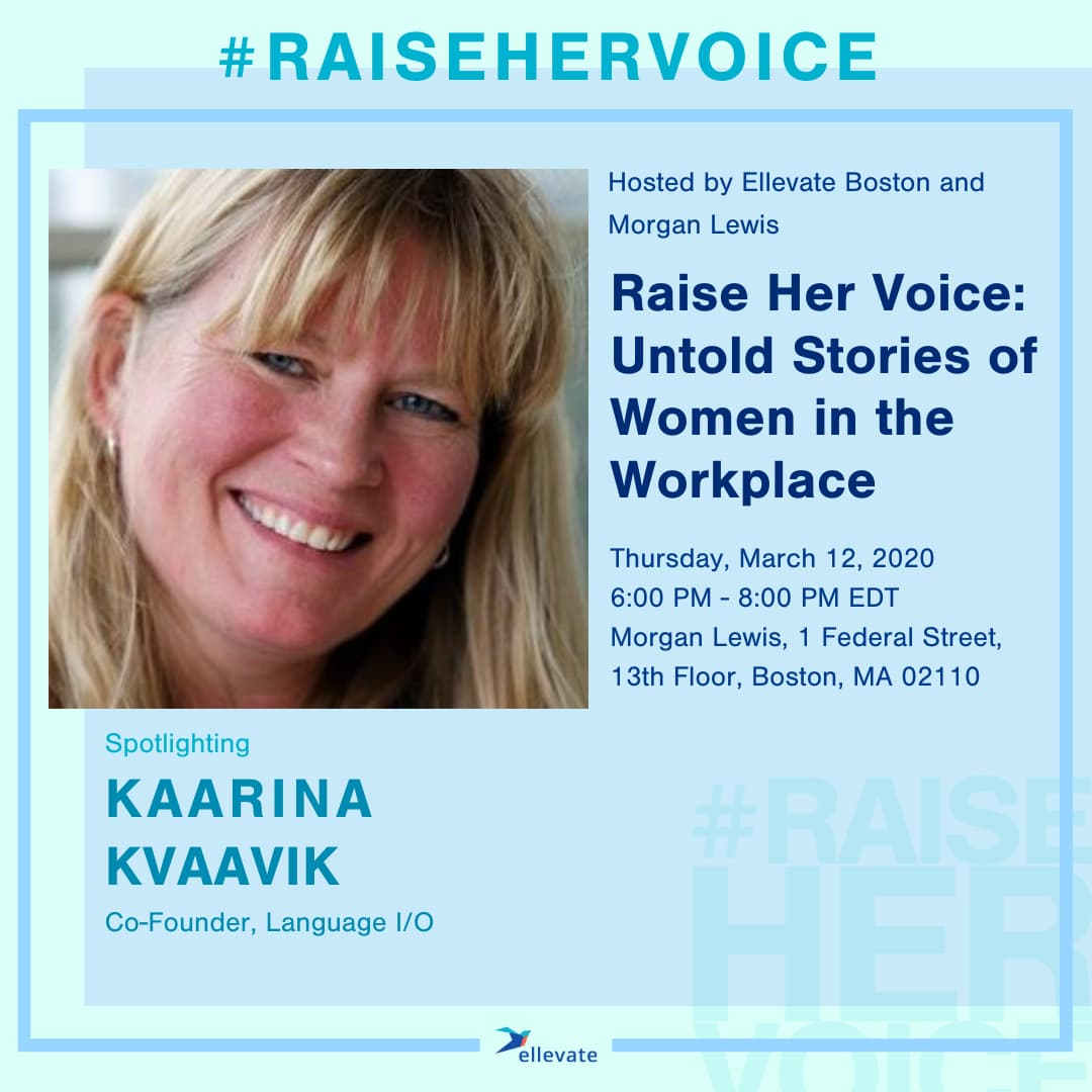 Language I/O Co-CEO Beats 700 Nominations for Speaking Spot at #RaiseHerVoice